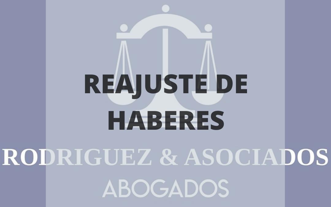REAJUSTE DE HABERES